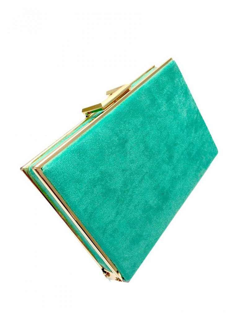 a69727e99 Bolsos de Fiesta Elegantes para Mujer Color Verde Agua | Bolsos Fiesta