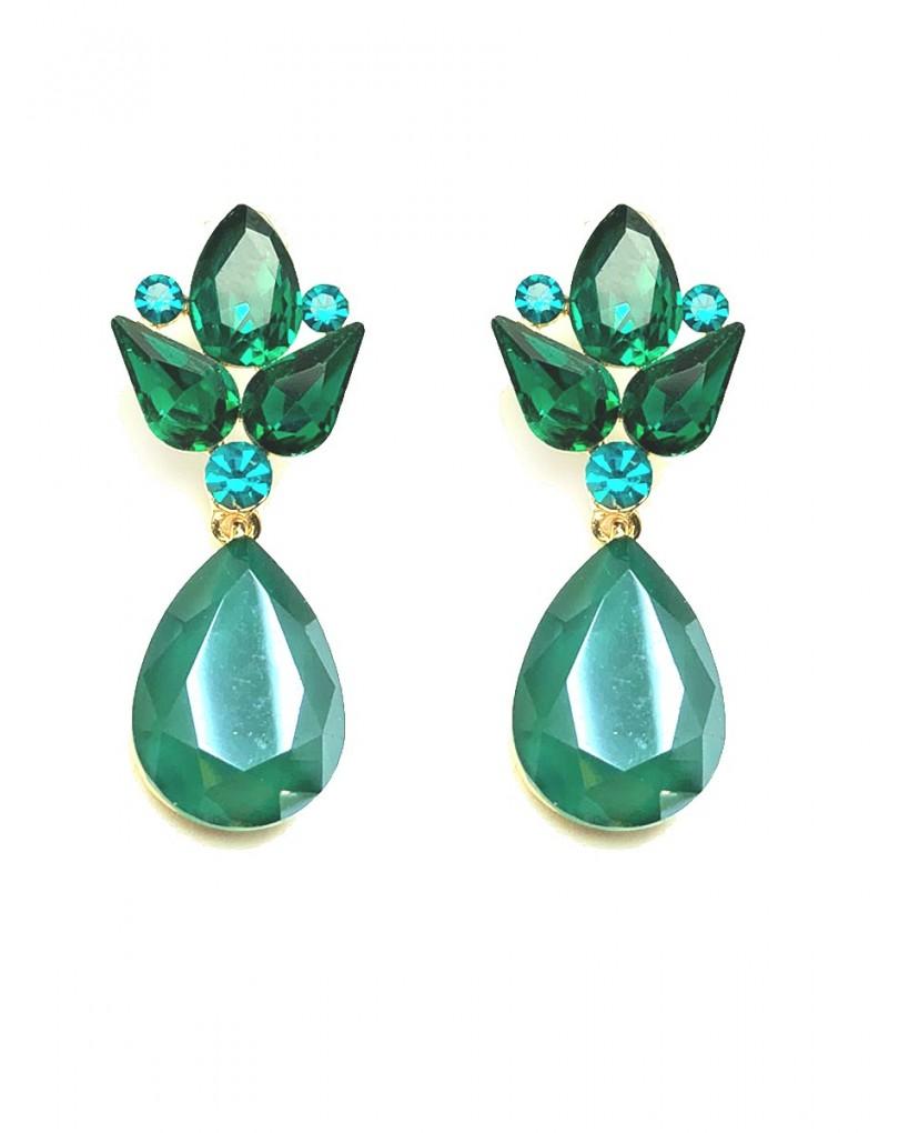 d2c4f609b75d Pendientes Elegantes de Fiesta Verdes con Los Que Estaras Guapisima con Tu  Vestido de Fiesta O Noche