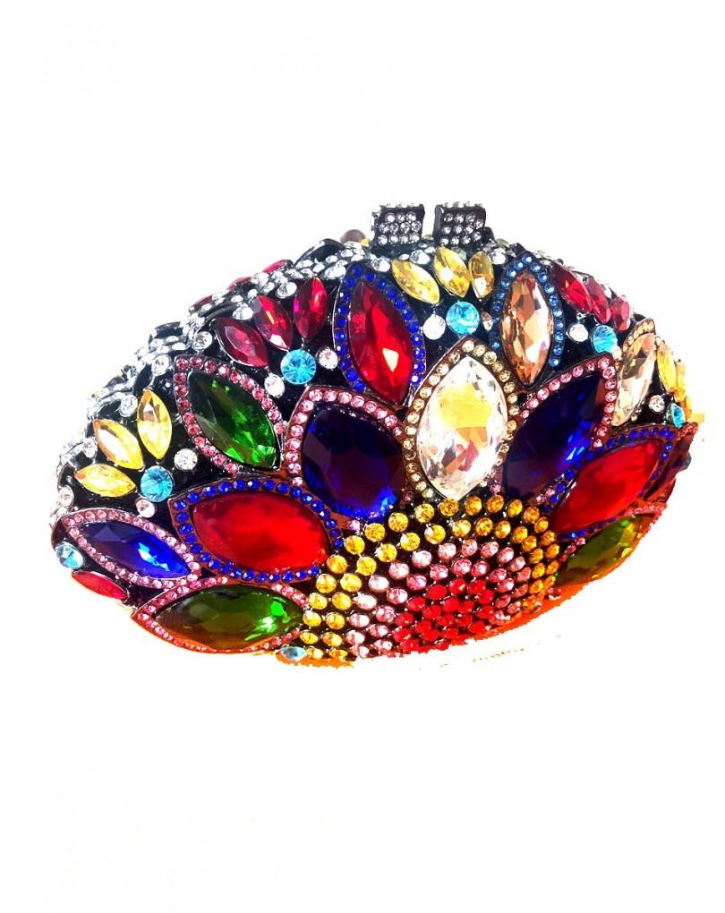71244a6e3a50 Bolsos Joya Exclusivos para Bodas y Madrinas en Multicolor con Forma  Redondeada