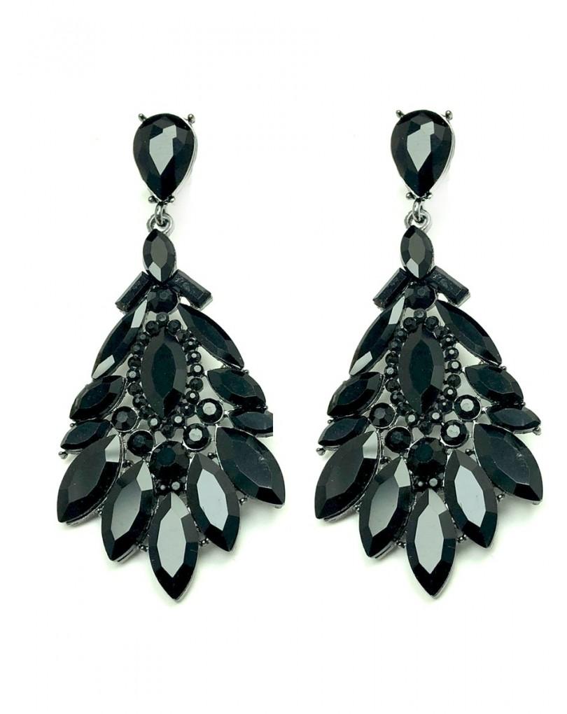 a4bbb8dd94c4 Pendientes Mujer Largos de Fiesta Negros Son Ideales para Looks de Noche  Sofisticados