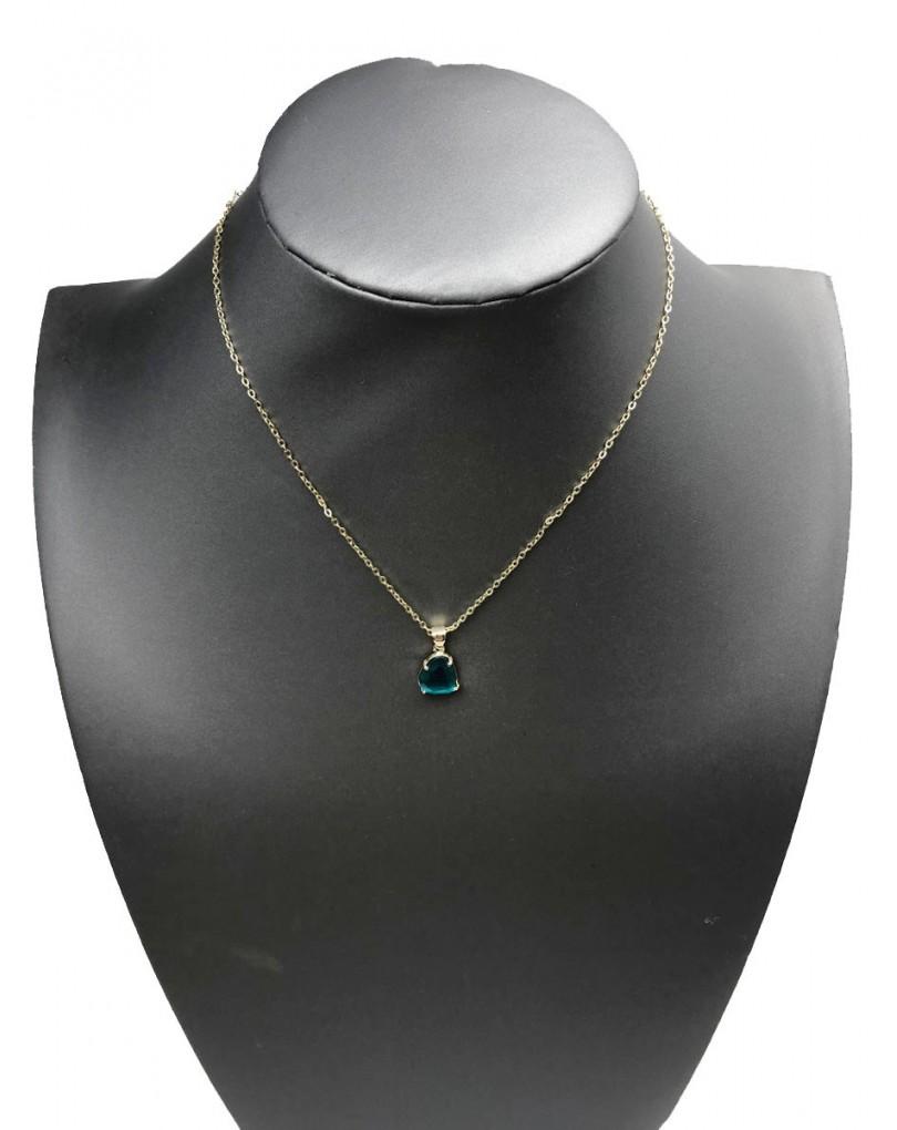 82e2a1392a04 Collares Bisuteria Fina con Colgante Piedra Ojo de Gato Azul ...
