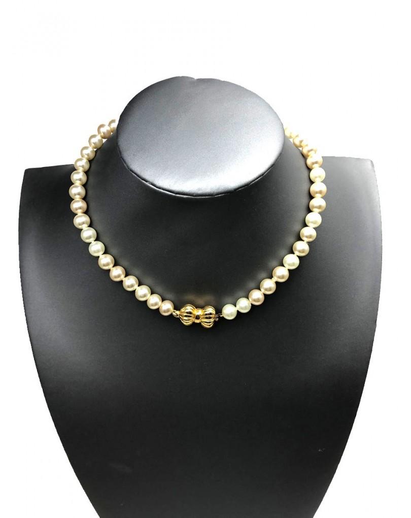 242aa0c79918 Originales Collares Cortos de Perlas con Bonito Cierr de Lazo ...