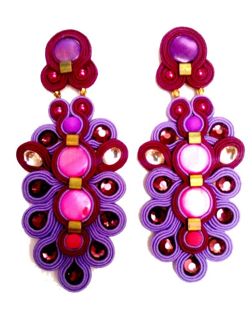 c09328fe4226 Comprar Pendientes Flamenca Morados