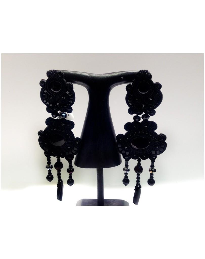 249d6c096763 Pendientes Flamenca Grandes Negros Espectaculares