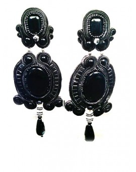 PENDIENTES FLAMENCA SOUTACHE GRAN COLORIODO
