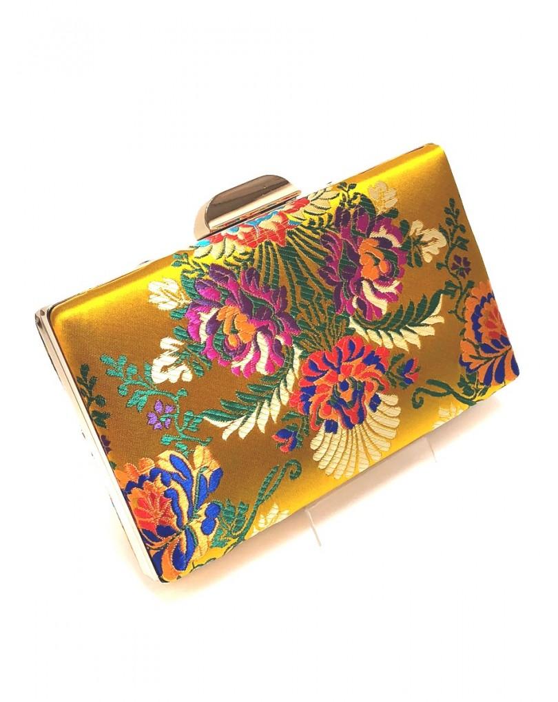 a90b5aedc Comprar Bolsos de Fiesta Amarillos con Estampado de Bordado Oriental ...