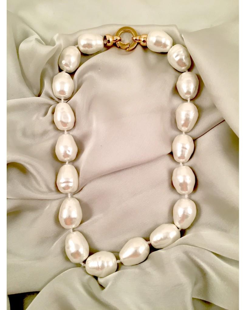 venta caliente online 2c1c6 d7065 Collar de Perla Barroca Alargada | Collares y Bisuteria