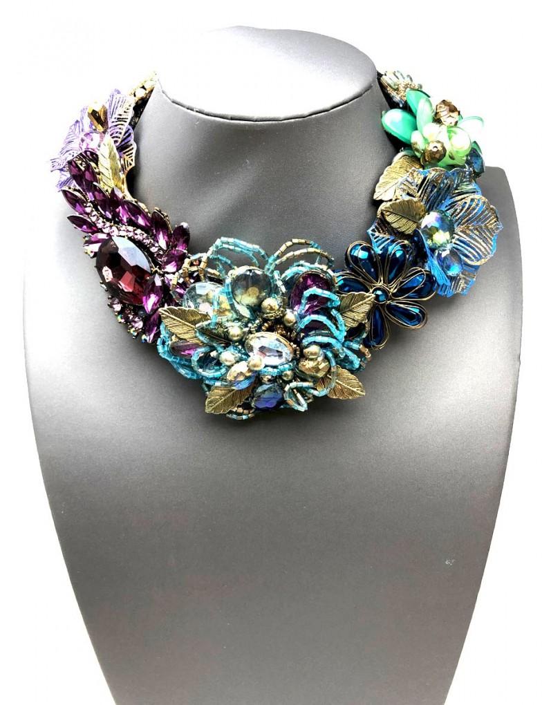 ae767bcd81a3 Collares Alta Bisuteria Fabuloso Diseño Artesanal Decorado con Flores