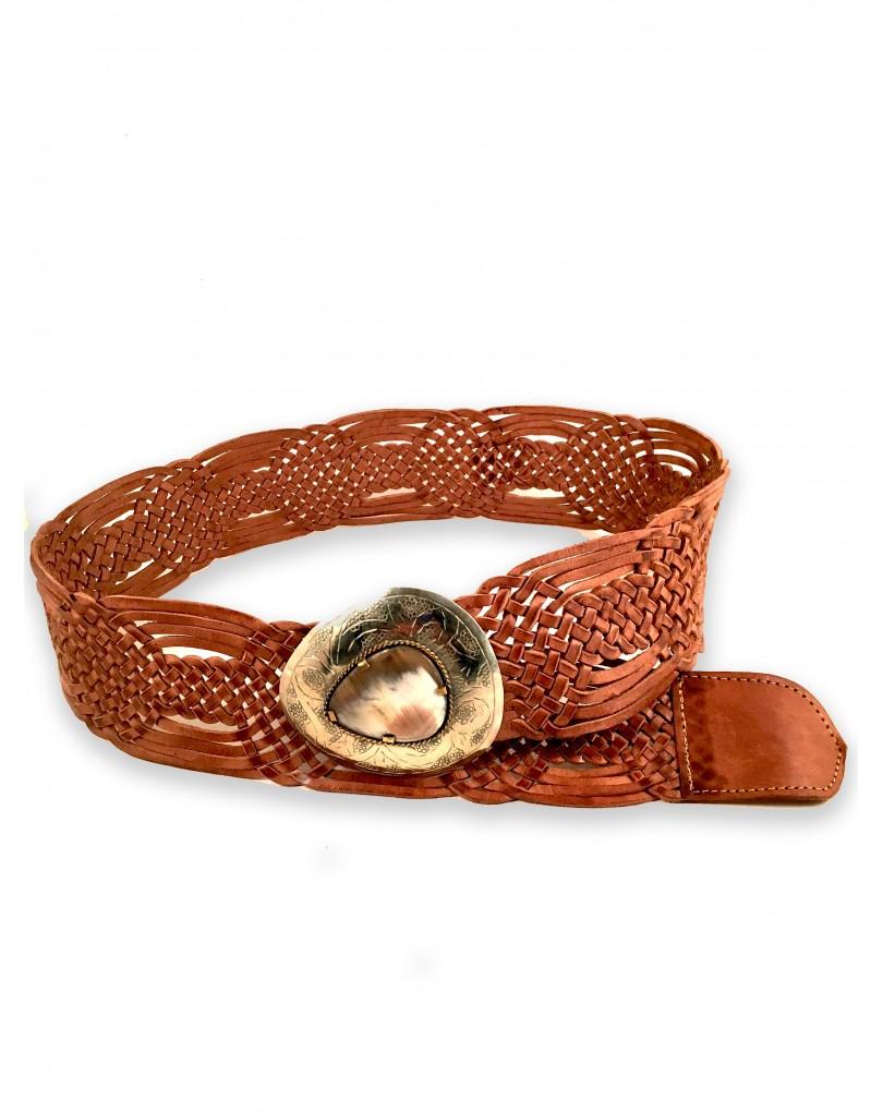 bajo precio fbae7 83c56 Cinturones Anchos Trenzados en Piel | Cinturones y Complementos