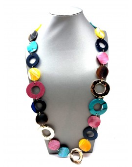COLLARES LARGOS VISTOSOS DE CAREY MULTICOLOR, TENDENCIA
