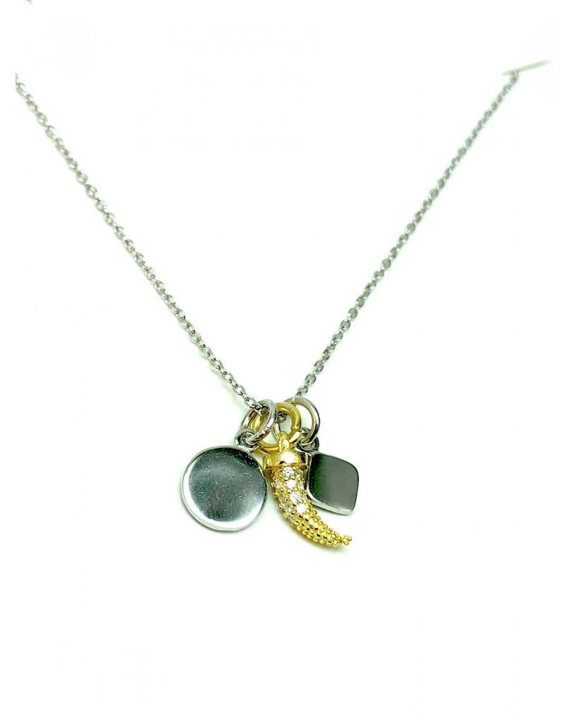 Collar de plata bisutería