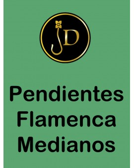 PENDIENTE SOUTACHE MODA FLAMENCA,BLANCO Y CORAL