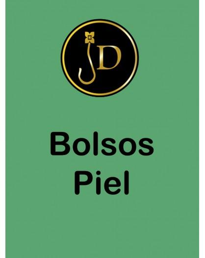 BOLSO PIEL REDONDO CON FLECOS DIAMETRO 25CM